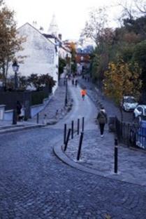 כיכר מונמארט בפריז. העלייה מכיכר דלידה למרכז