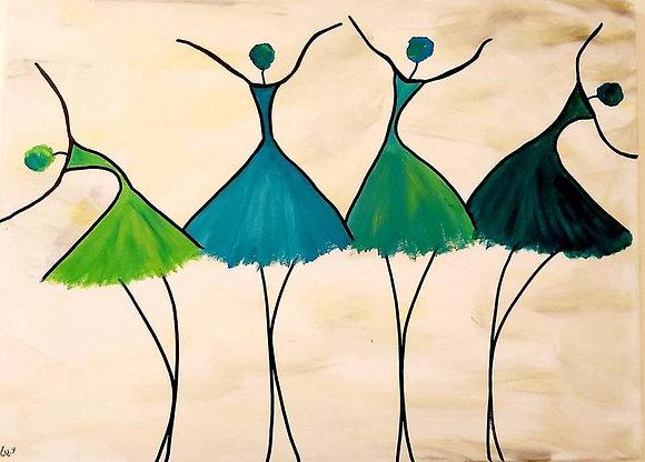 ציור של רקדניות בתורכיז