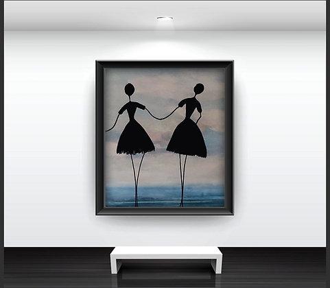 ציור של רקדניות