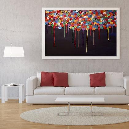 ציור של פרחים צבעוניים