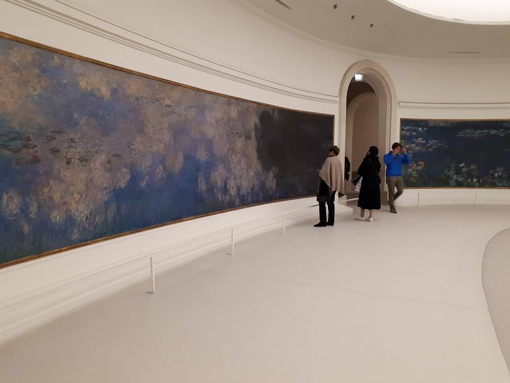 החבצלות של מונה. ציור קיר ענק במוזיאון האורנג'רי