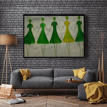 רקדניות בירוק לימון
