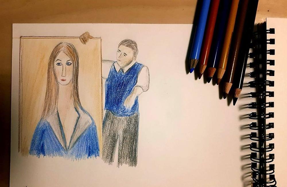 מודליאני בצבעי עיפרון: עליזה גוטמן