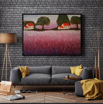 ציור של שדות סגולים