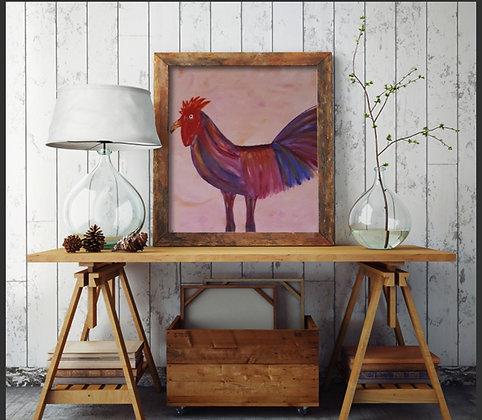 תרנגול צבעוני בצבעים שמחים
