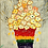 ציור של עציץ בצבעי הגאווה