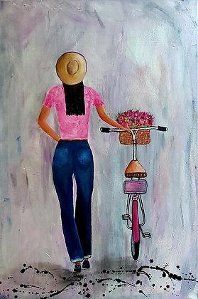 נערה ואופניים