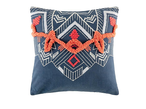 Basque Square cushion Navy