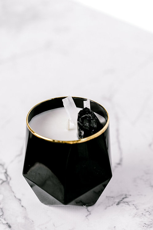 Crystal Luxe Candle Black Obsidian
