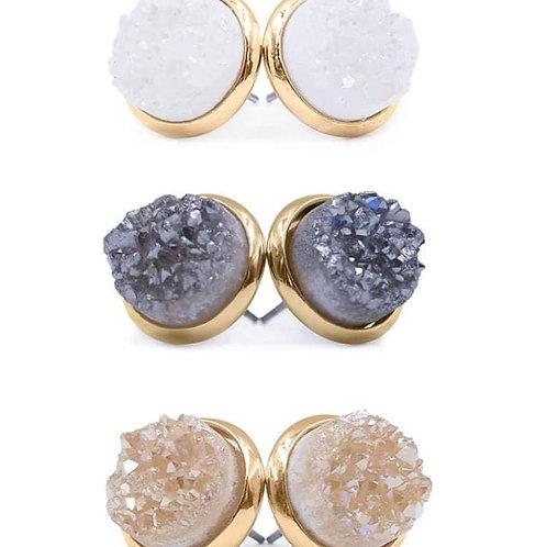 Stone Collection Quartz Earrings Set