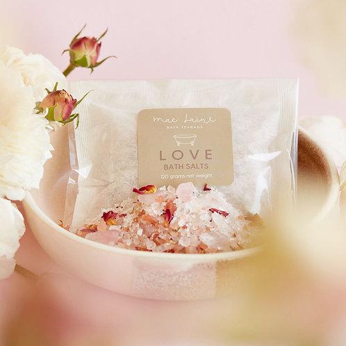 LOVE bath teabags