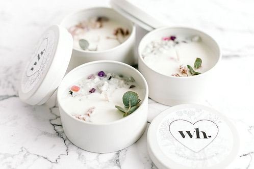 Wild Heart BOTANICAL Candle Moonstone