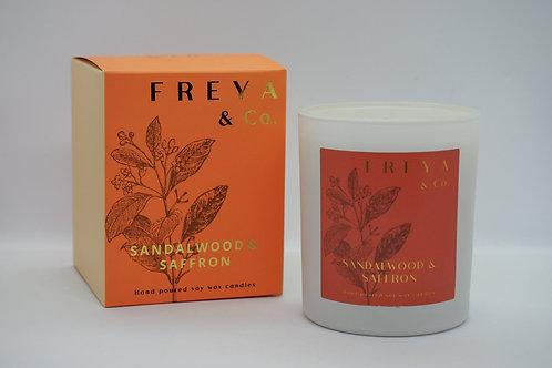 Freya & Co Saffron and Sandlewood Candle
