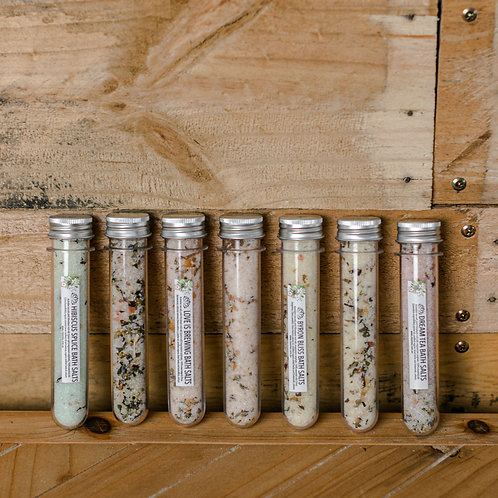 Clean Tea Test Tube Bath Salts