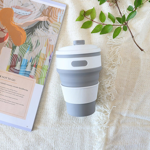 Grey Collapsible Coffee Cup