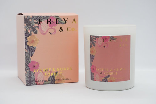 Freya & Co Lychee and Guava Candle