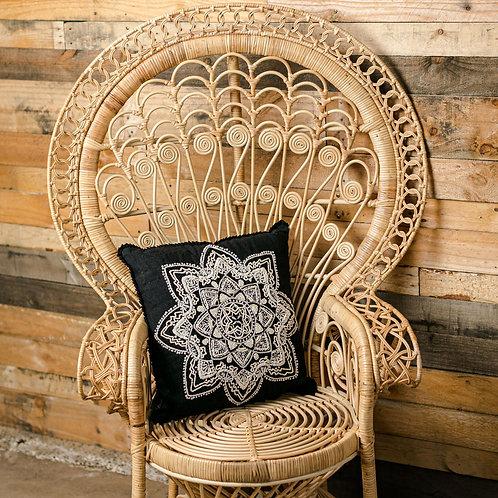 hand beaded mandala cushion