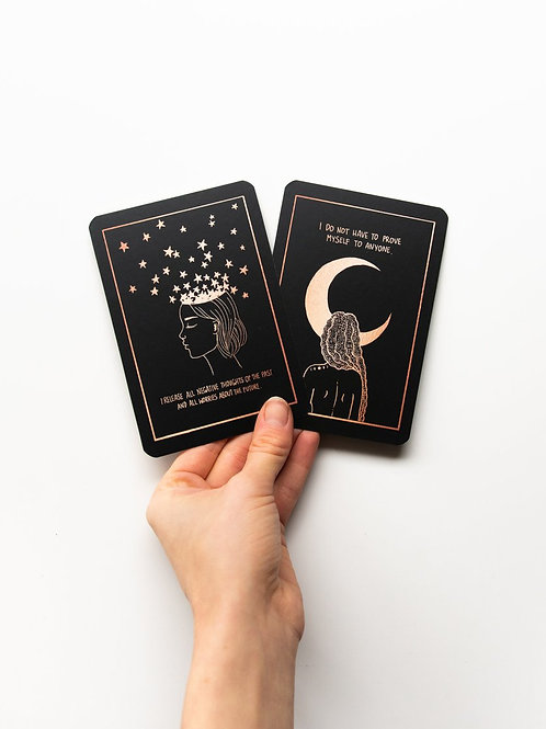Dreamy moons Affirmation cards