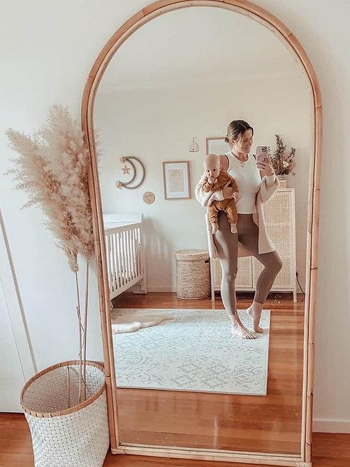 Rattan Arch Mirror