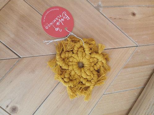 Mustard Star Christmas Decor