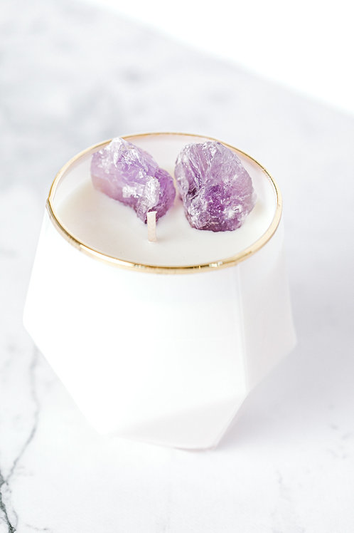 Amethyst Luxe Crystal Candle