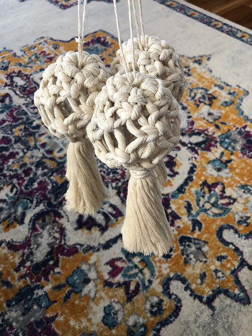 Macrame Christmas Bauble