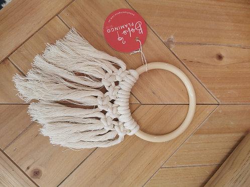 Boho Macrame Curtain Ring
