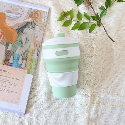 Mint Collapsible coffee cup