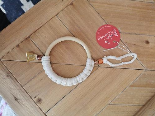 White Macrame Curtain Ring
