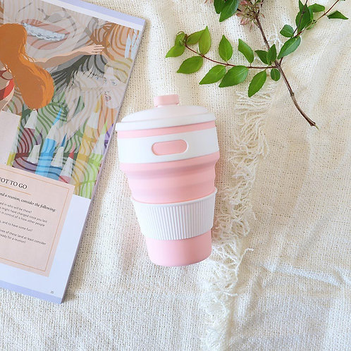 Pink Collapsible Coffee Cup