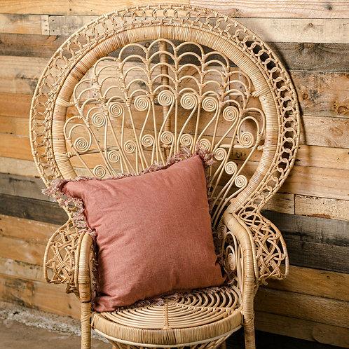 Deep blush lush cushion