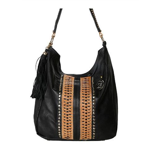 Sara Black and Camel Leather Bag