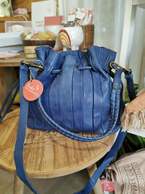 Adriana Leather Bag in Blue