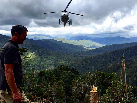 HeliScope helicopter in Papua New Guinea for Webstes Drilling