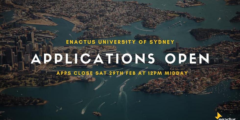 Enactus USYD Recruitment Drive Semester 1