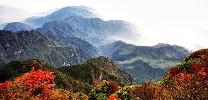 Panorama of Mount Emei