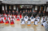 Young People in Coming of Age Ceremony in China following traditional rites in Tradition of China