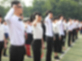 Young People in Coming of Age Ceremony in China following modern rites in Tradition of China