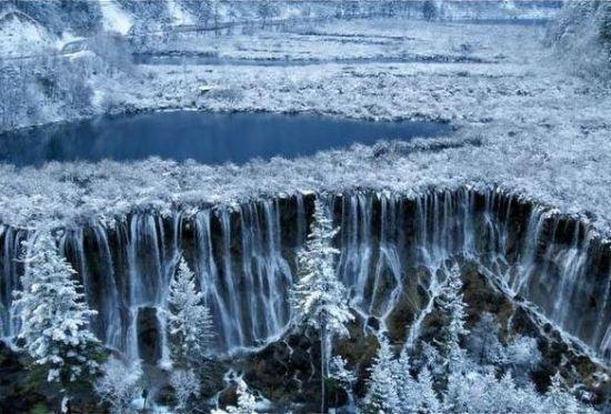 Glacier cascade
