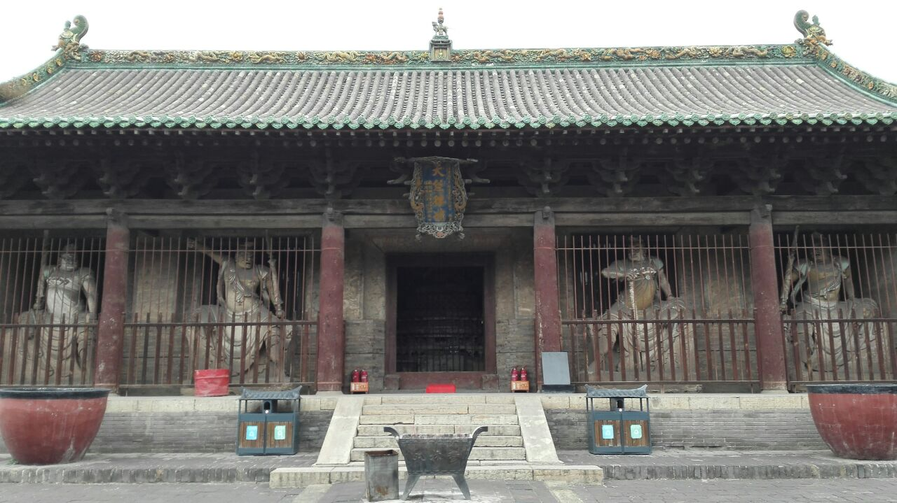 Millennium temple and ancient statue
