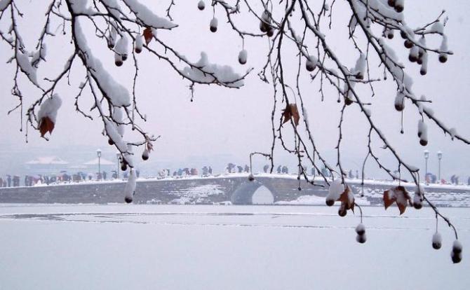 Legendary bridge in Winter