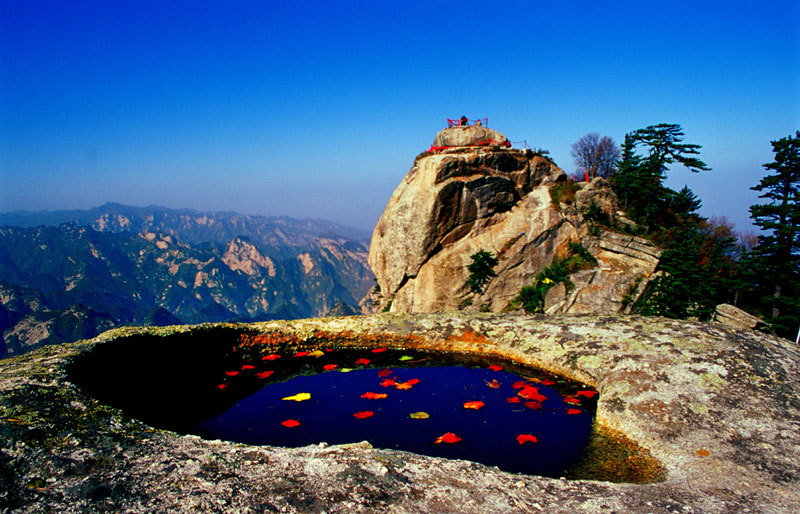 Mysterious lake on top of the montai