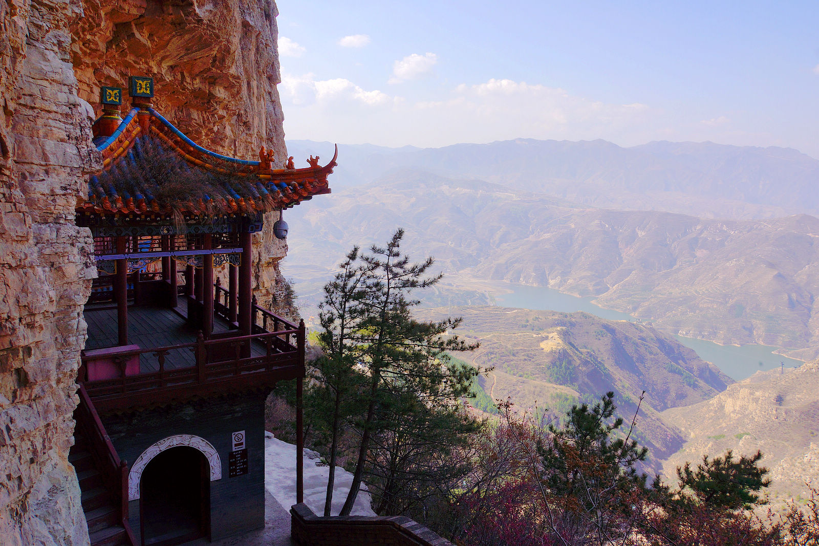 Temples along cliff