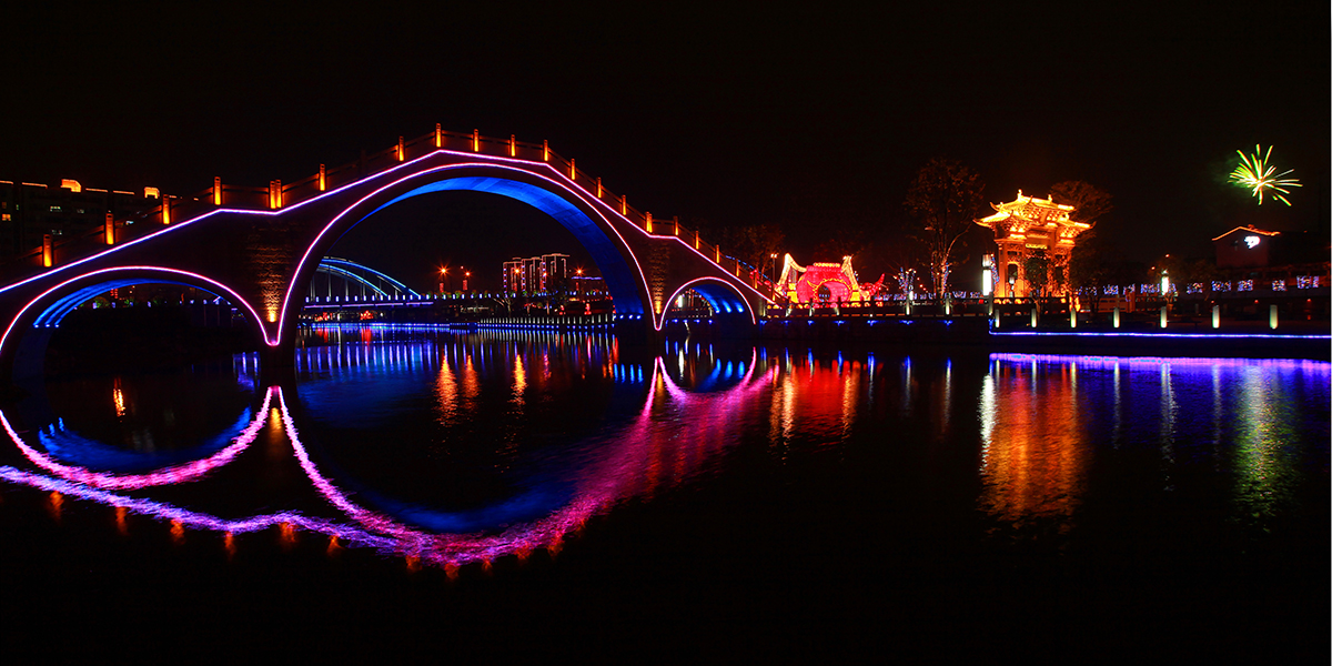 Lights and Night View of Taihu Lake