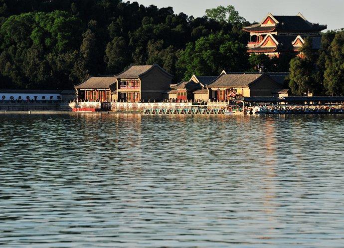 Buildings along the lake