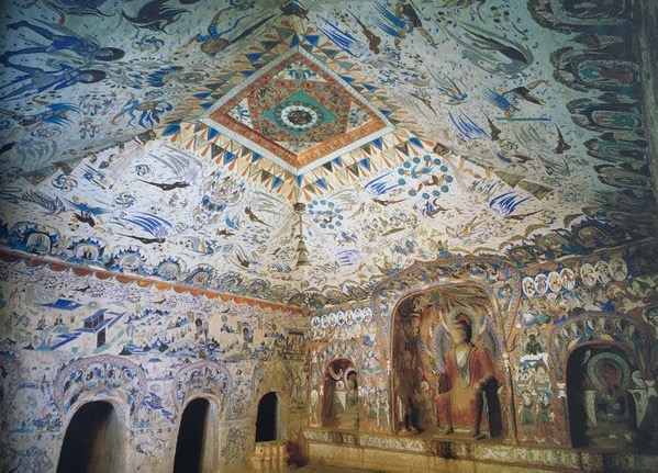 Inside frescos and painted sculpture