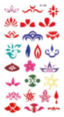 Various types of Hua Dian the decoration between eyebrows