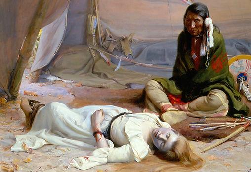 D. Laszlo Conhaim Comanche Captive, Randolph Scott