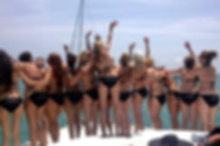 cuncrawl yacht party, booze cruise cancun, catamaran party cancun