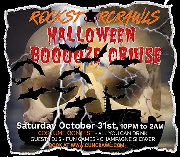 Halloween booze cruise Cancun